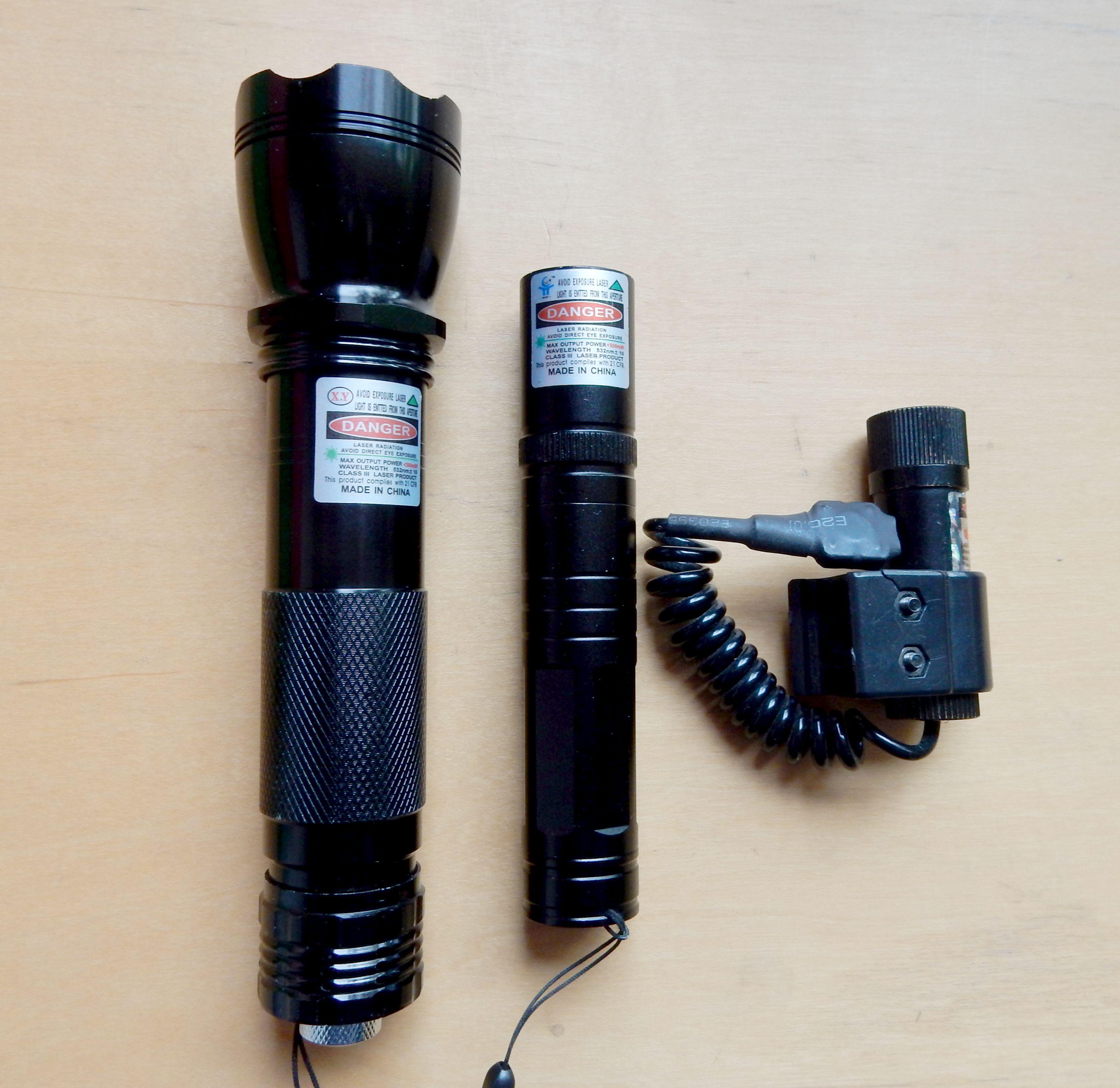 0224 sichergestellte Laserpointer