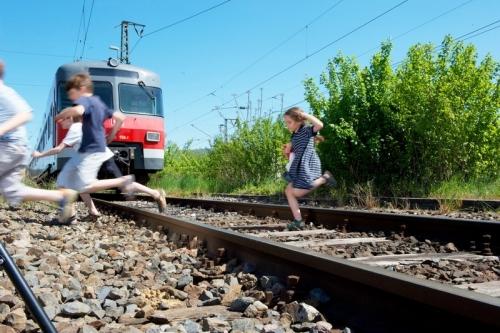 Bahn Kinder Gleise