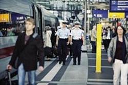 Bundespolizei Bahnsteig