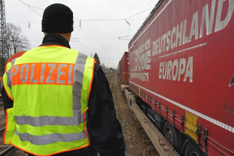 Güterzugkontrolle Bundespolizei