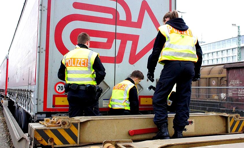Güterzugkontrolle Bundespolizei 2