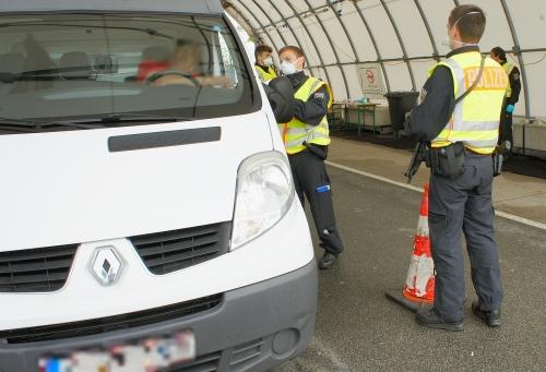 Kontrolle Bundespolizei A93