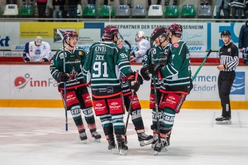 Starbulls Jubelszene Eishockey Ludwig Schirmer