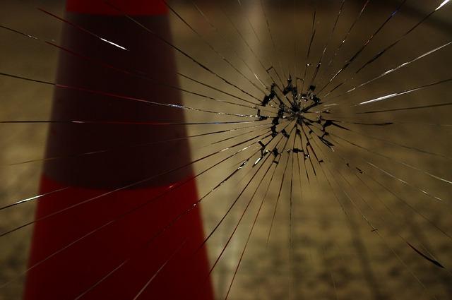 Vandalismus Glasscheibe