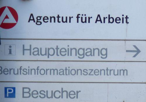 Agentur fuer Arbeit Schild