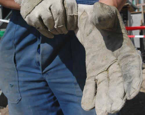 Bauarbeiter Handschuhe