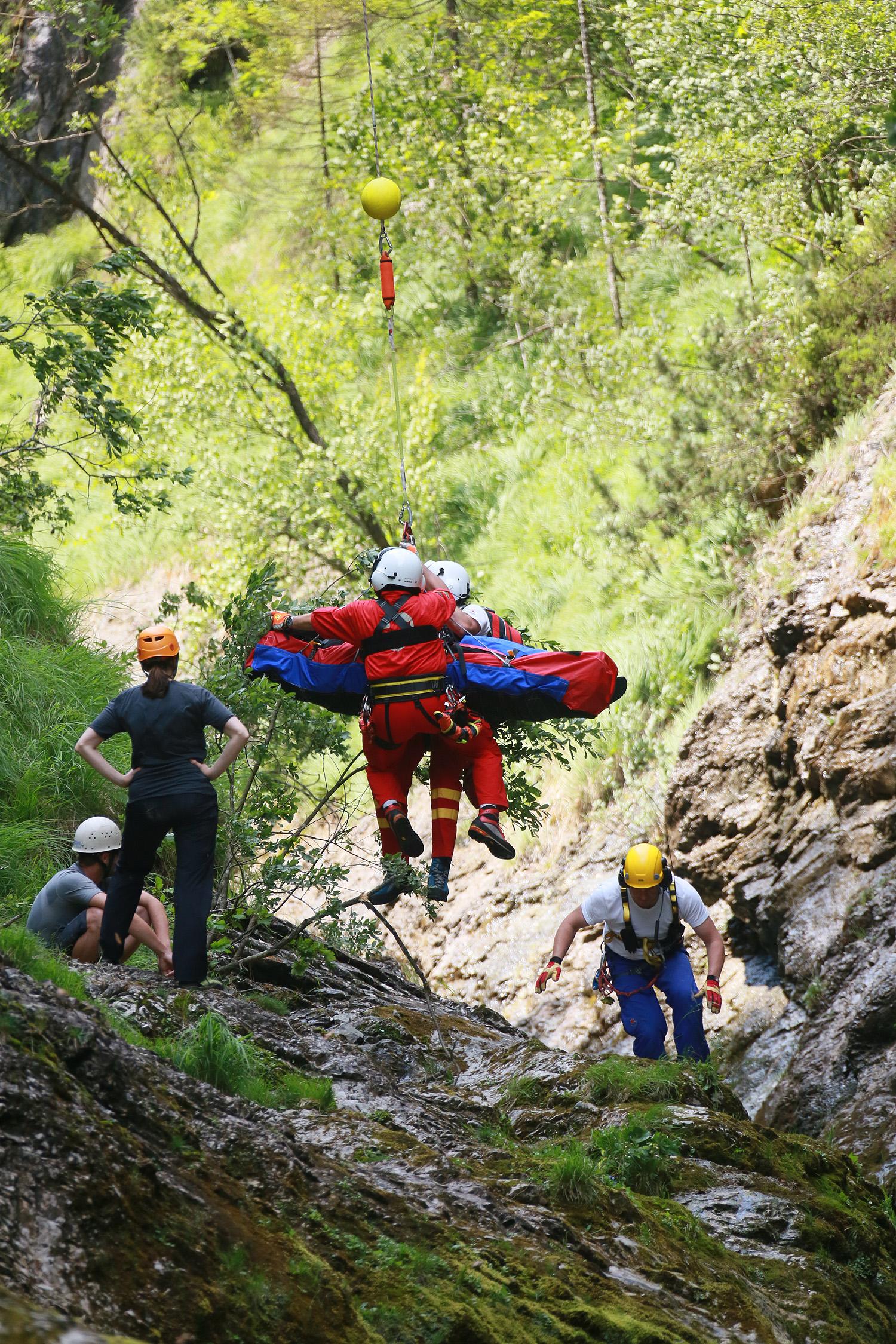 Bergrettung Weissbachschlucht