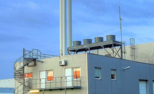 Biomasse Heizkraftwerk Symbol