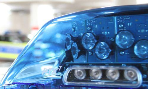 Blaulicht vor Polizeiauto