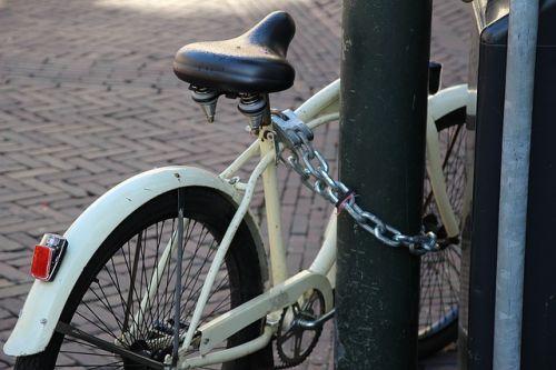 Fahrrad abgesperrt