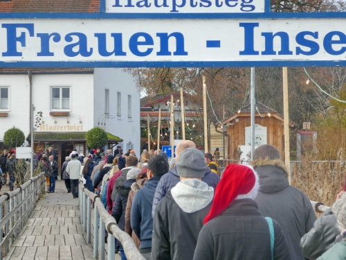 Fraueninsel Ansturm Christkindlmarkt