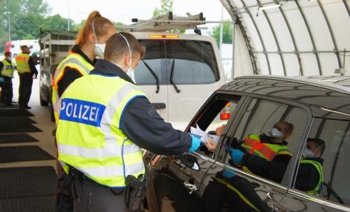 Grenze Kontrolle Polizei