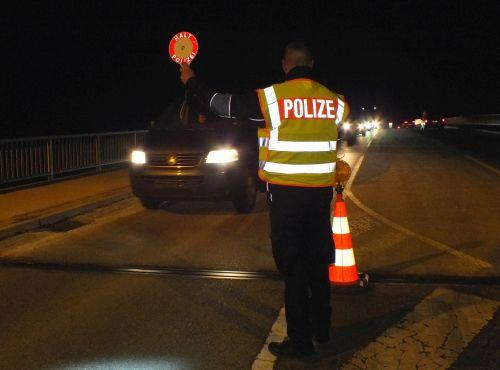 Grenzkontrolle Nacht