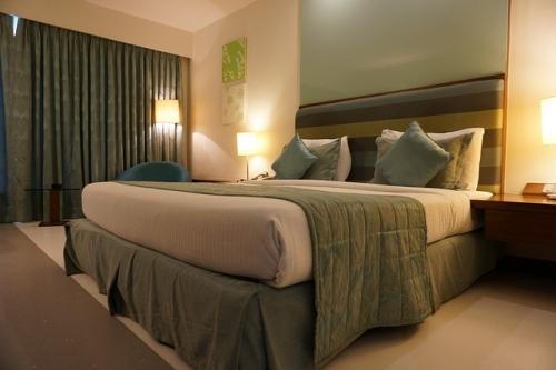 Hotelzimmer grün
