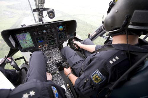 Hubschrauber Bundespolizei Cockpit