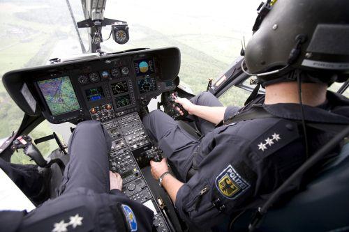 Hubschrauber von innen