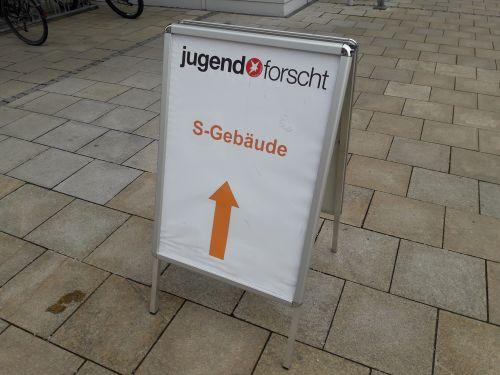 Jugend forscht Schild