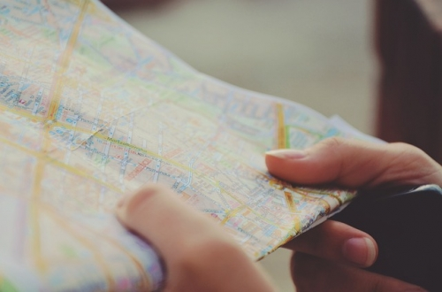 Karte Navigation Reisen