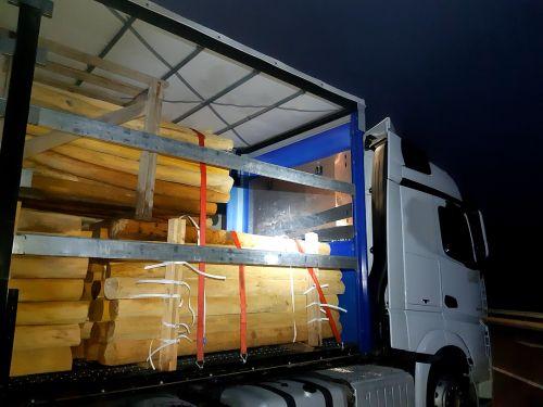 Lastwagen Holzstaemme