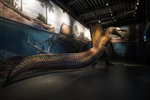 Lokschuppen Dinosaurier Spinosaurus