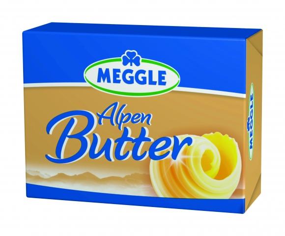 MEGGLE Alpenbutter 250g Links Packshot 300ppi