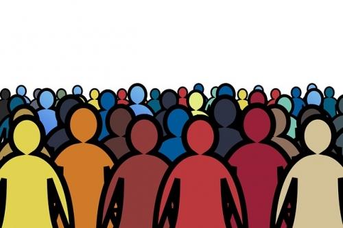 Menschen Menge Versammlung