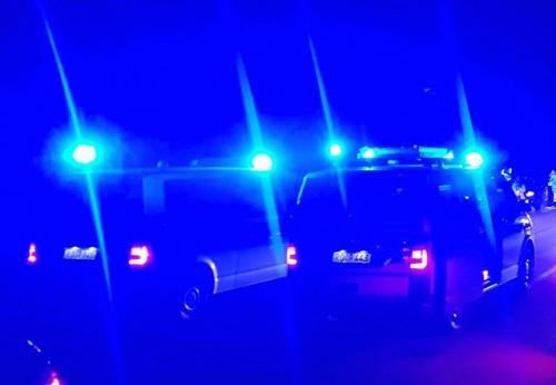 Polizeiautos Nacht Blaulicht