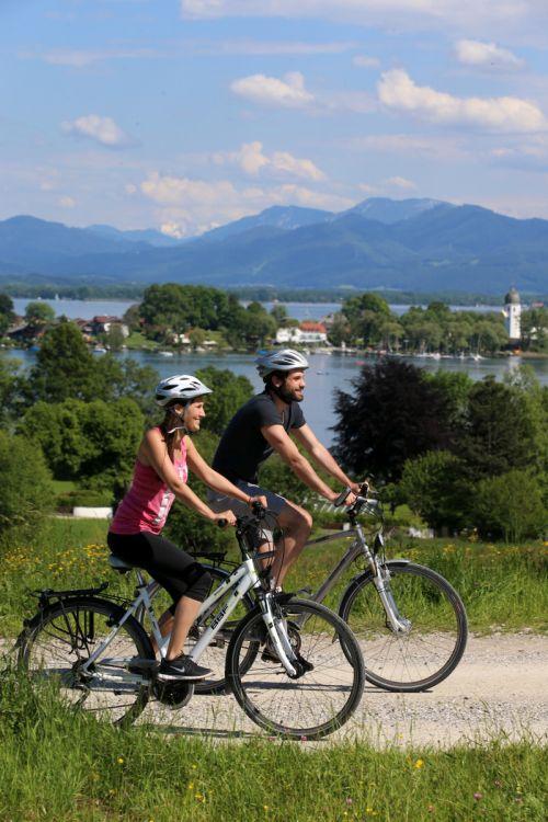 Radfahren Chiemsee Alpenland Tourismus