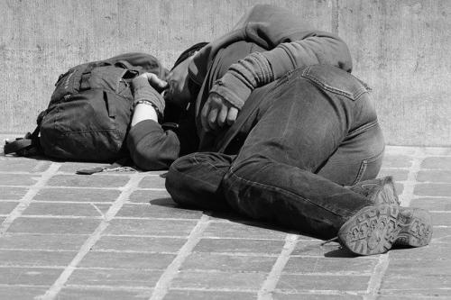 Schlafen Obdachlos