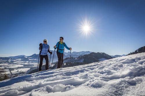 Schneeschuhwandern Chiemsee Alpenland Tourismus