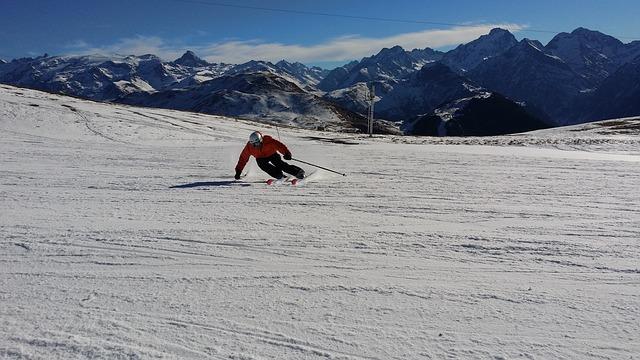 Skifahrer Symbol