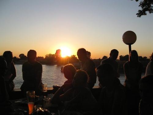 Sonnenuntergang Geselligkeit Party Freunde