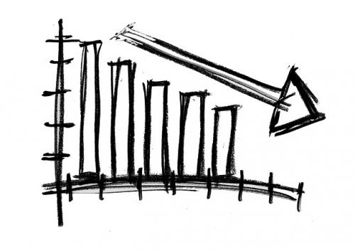 Tendenz abwaerts Wirtschaft Barometer