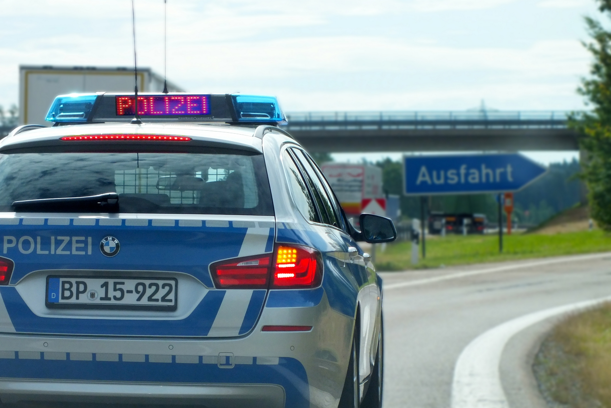 Polizei Ausfahrt